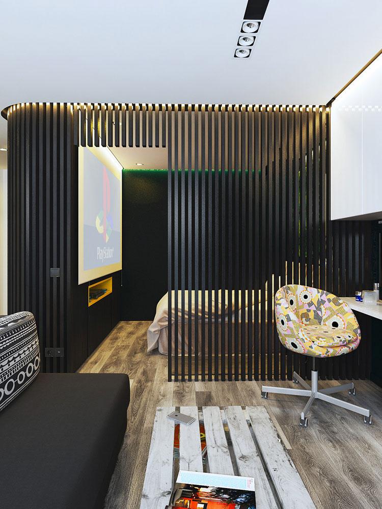 Appartamento di 40 mq con arredi di design n.44