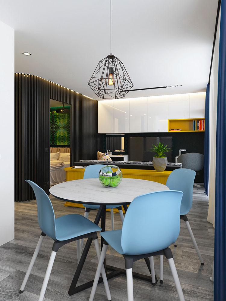 Appartamento di 40 mq con arredi di design n.47