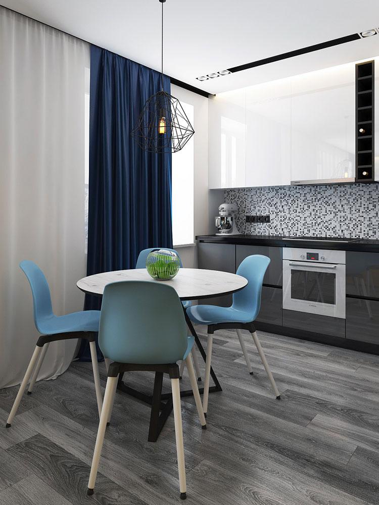 Appartamento di 40 mq con arredi di design n.48
