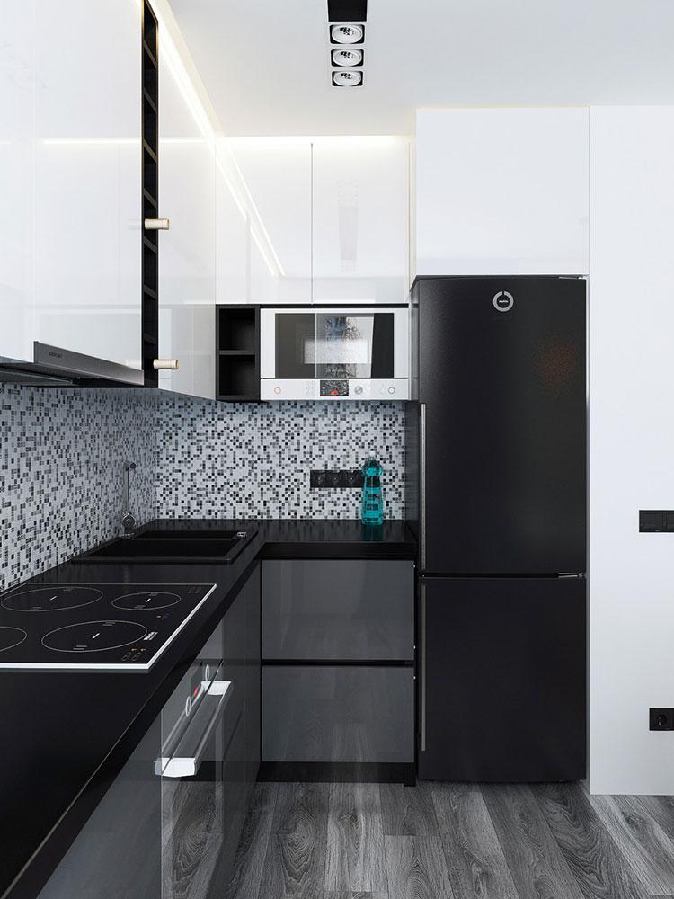 Appartamento di 40 mq con arredi di design n.491