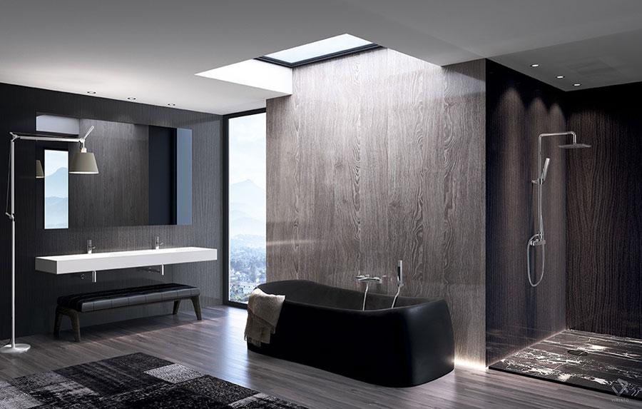 Arredamento per bagno moderno con elementi di design n.07