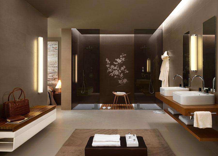 Arredamento per bagno moderno con elementi di design n.08