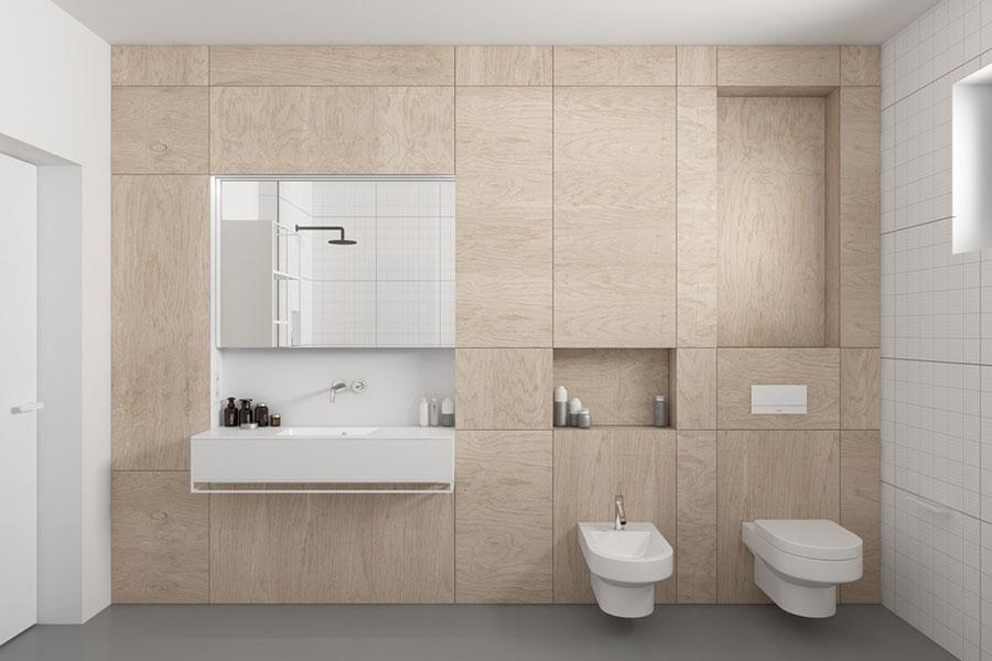 Arredamento per bagno moderno con elementi di design n.09