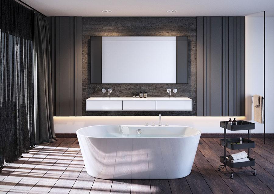 Arredamento per bagno moderno con elementi di design n.10