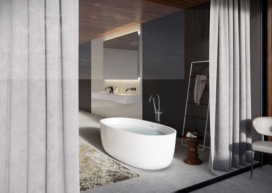 Arredamento per bagno moderno con elementi di design n.11