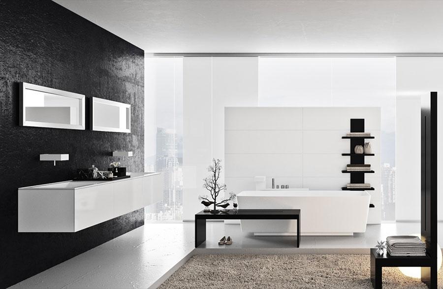 Arredamento per bagno moderno con elementi di design n.14
