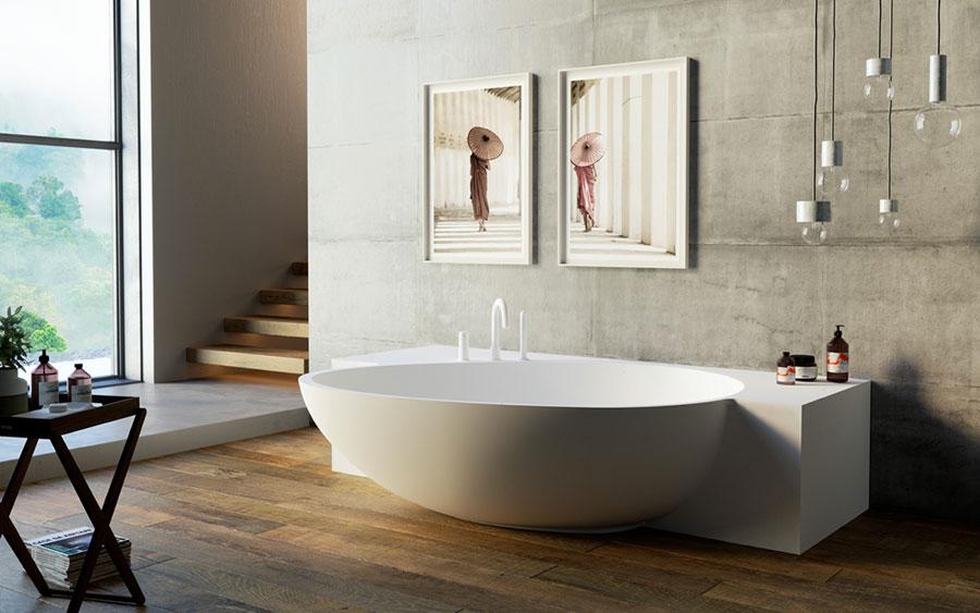 Arredamento per bagno moderno con elementi di design n.15