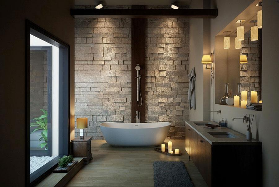 Arredamento per bagno moderno con elementi di design n.16