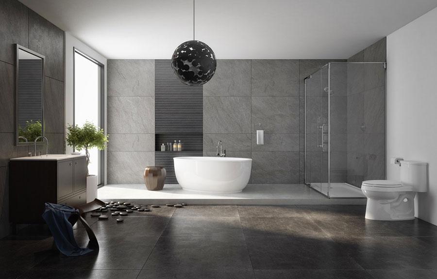 Arredamento per bagno moderno con elementi di design n.17