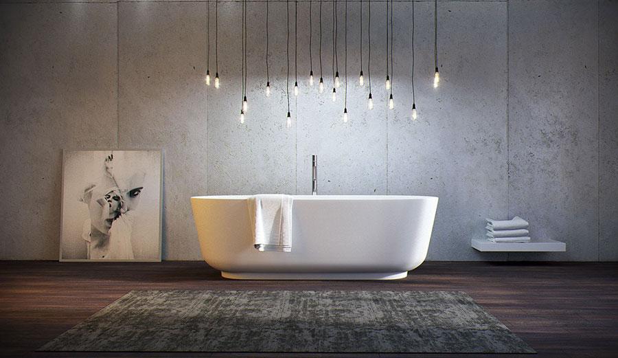 Arredamento per bagno moderno con elementi di design n.18