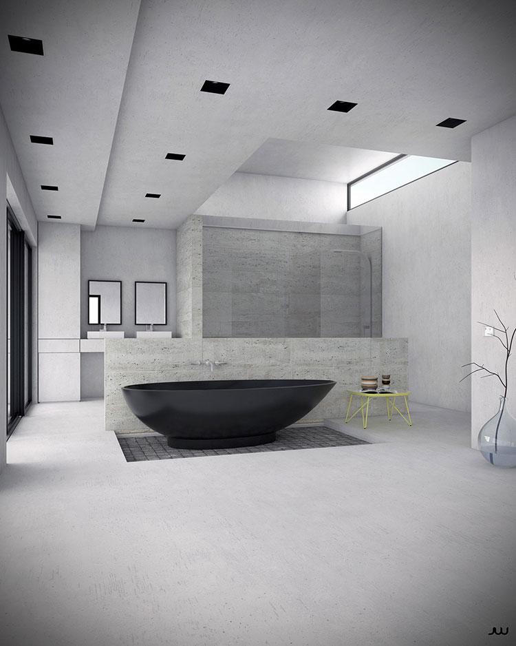 Arredamento per bagno moderno con elementi di design n.19
