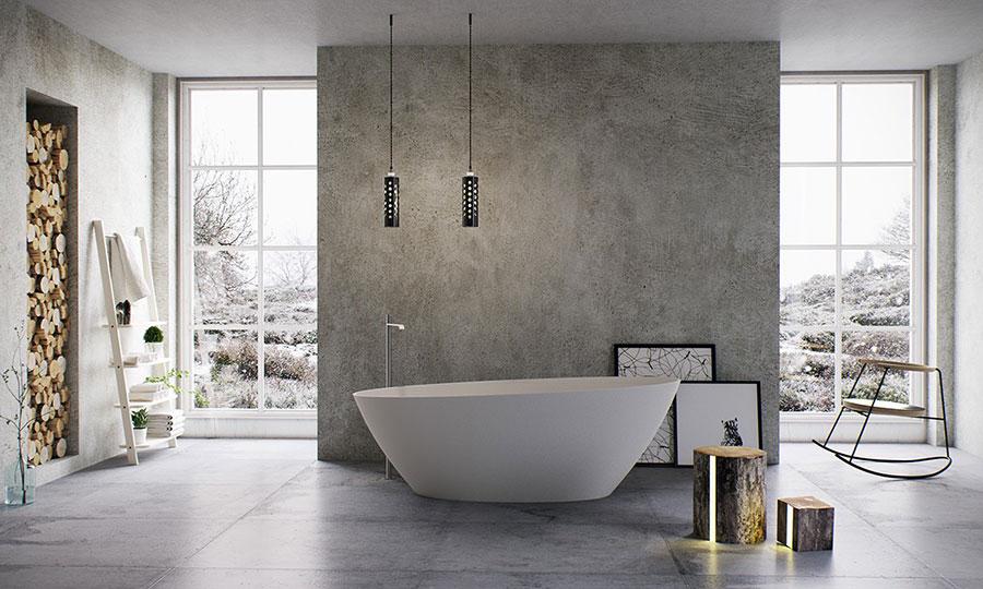 Arredamento per bagno moderno con elementi di design n.22