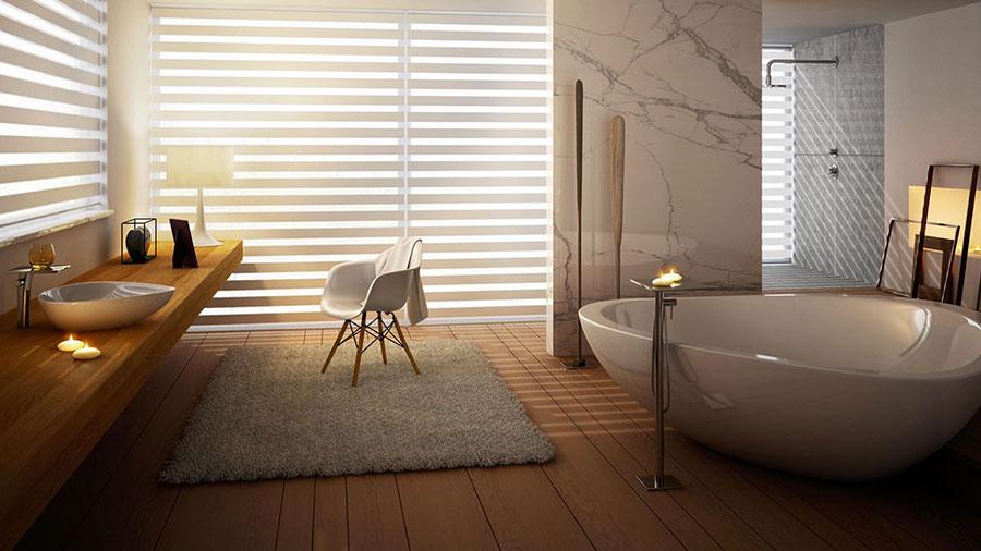 Arredamento per bagno moderno con elementi di design n.23