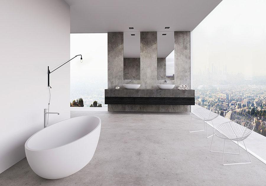 Arredamento per bagno moderno con elementi di design n.24