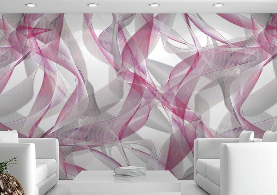 Modello di carta da parati effetto tridimensionale con motivo geometrico n.05
