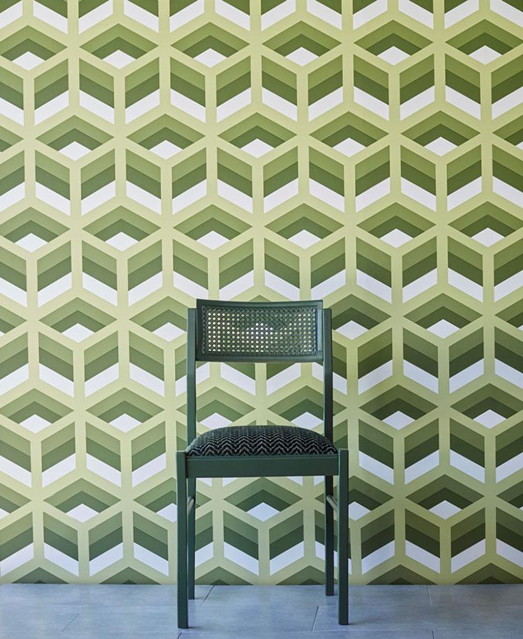 Modello di carta da parati effetto tridimensionale con motivo geometrico n.07