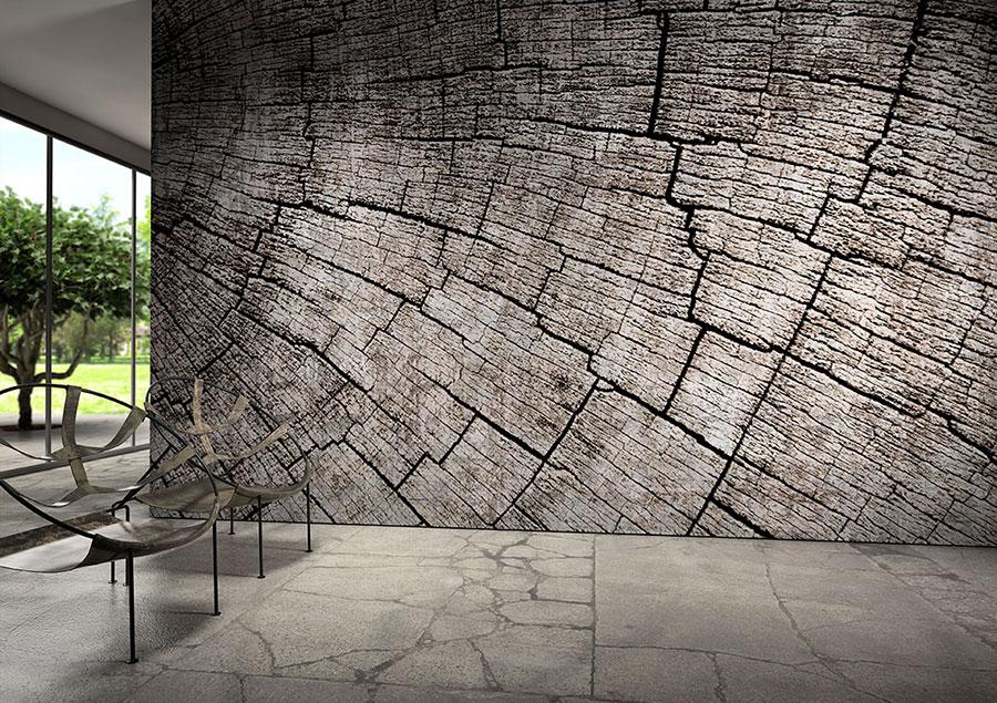 Modello di carta da parati effetto tridimensionale con motivo natura n.03