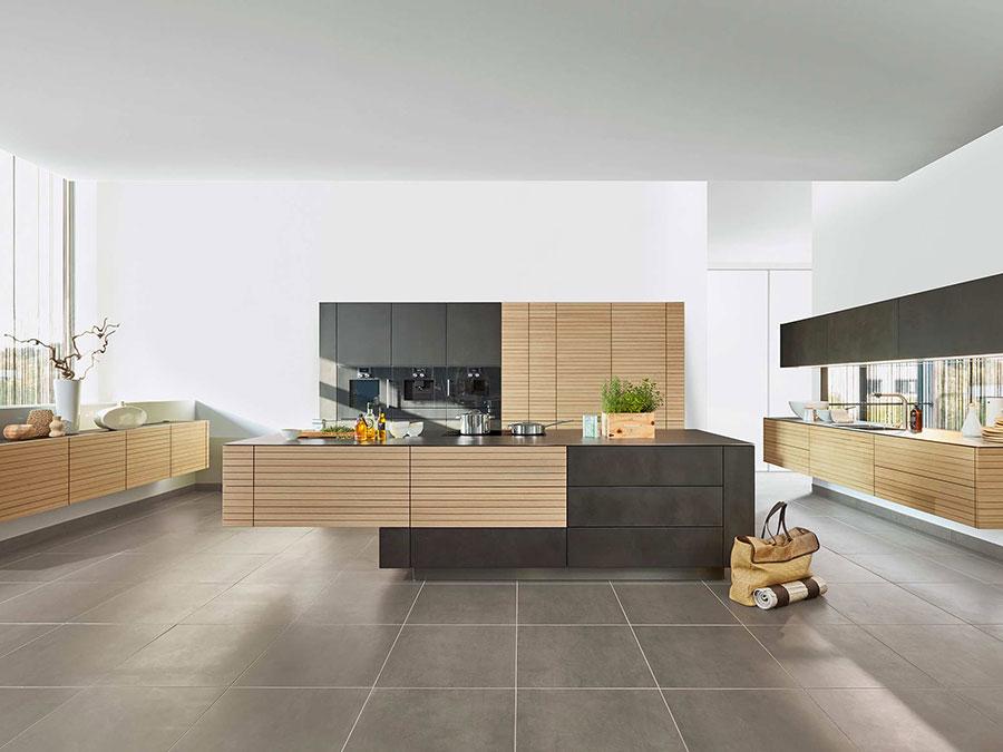 Modello di cucina moderna in legno n.01