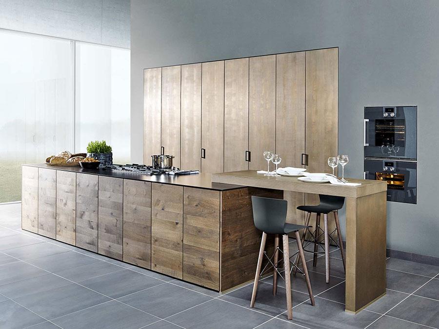 Modello di cucina moderna in legno n.02