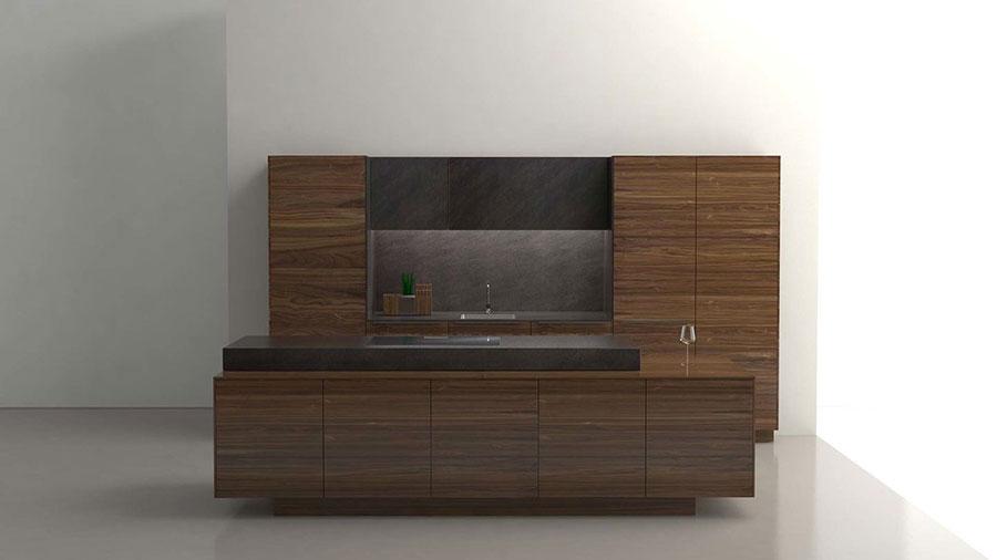 Modello di cucina moderna in legno n.05
