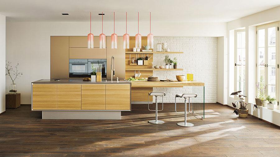 Modello di cucina moderna in legno n.06