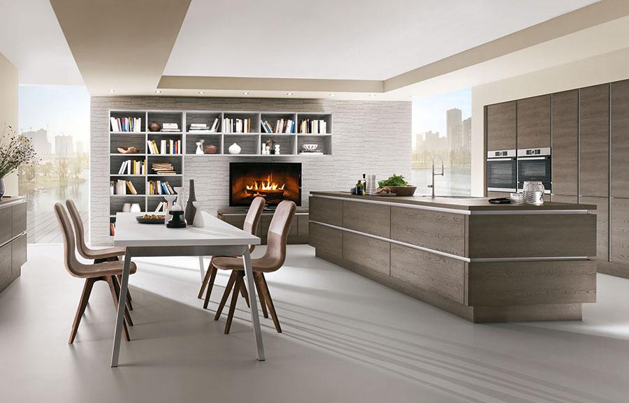 Modello di cucina moderna in legno n.08