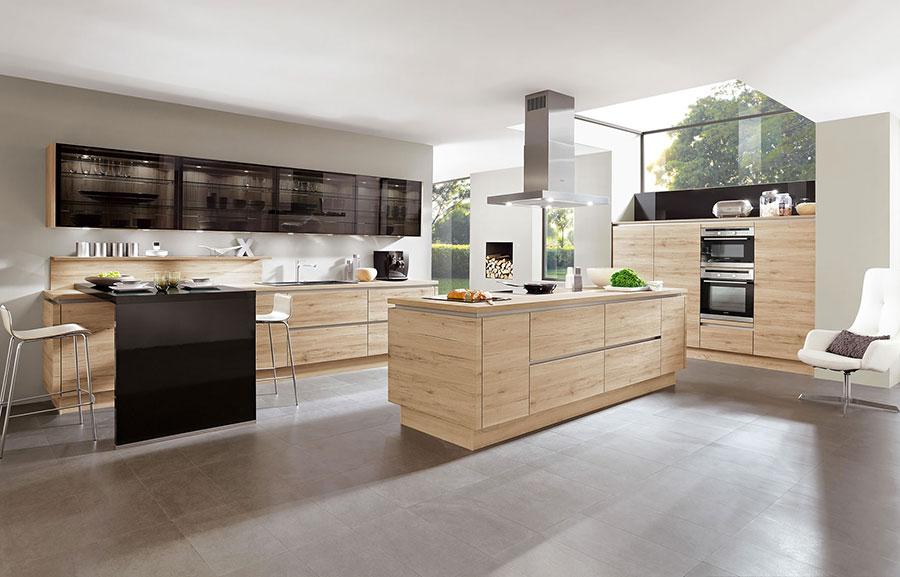 Modello di cucina moderna in legno n.09