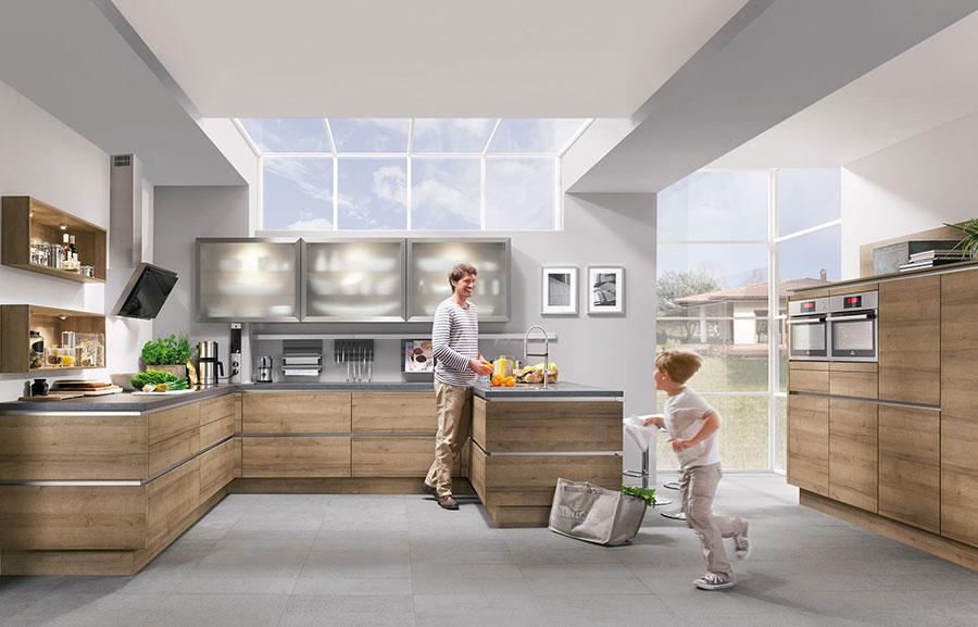 Modello di cucina moderna in legno n.10