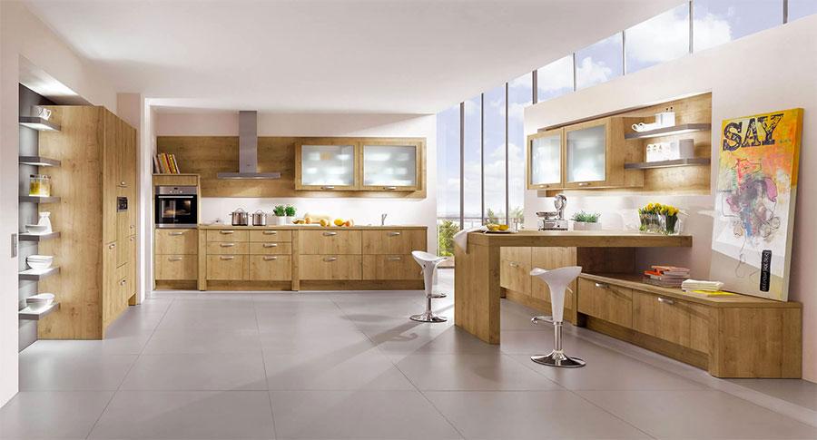 Modello di cucina moderna in legno n.11