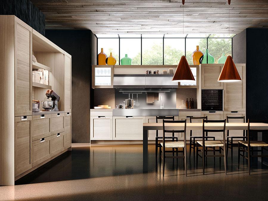 Modello di cucina moderna in legno n.12