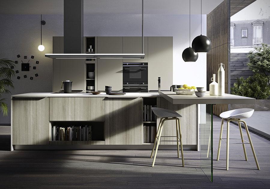 Modello di cucina moderna in legno n.13