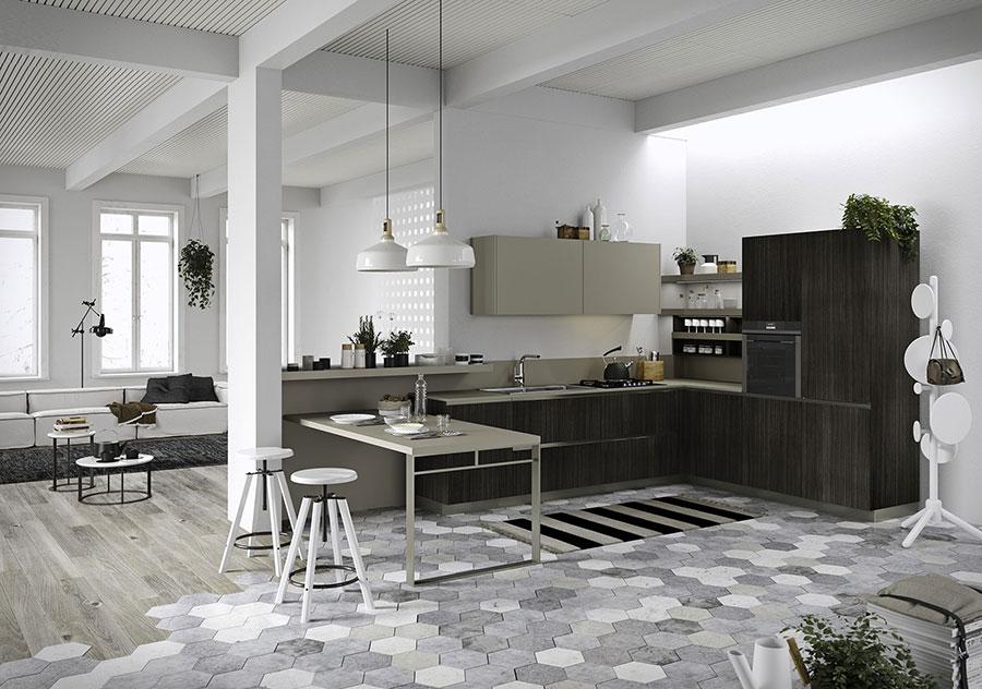 Modello di cucina moderna in legno n.15