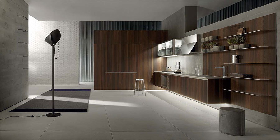 Modello di cucina moderna in legno n.18