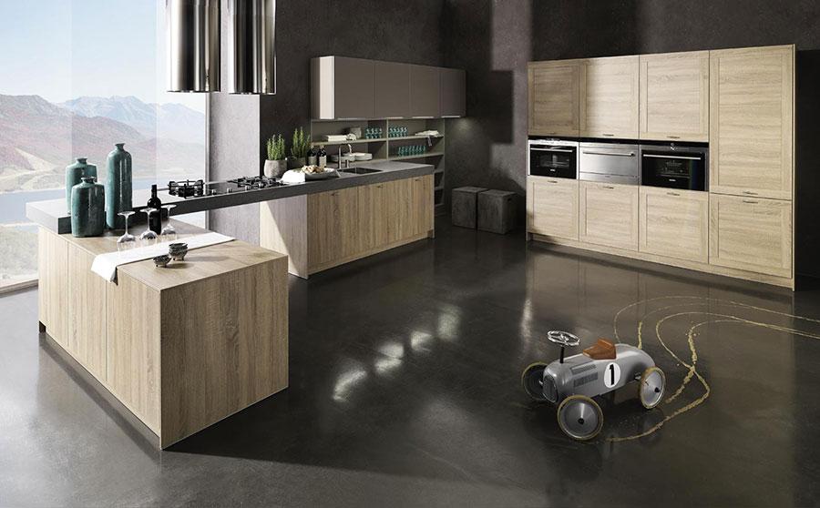 Modello di cucina moderna in legno n.20