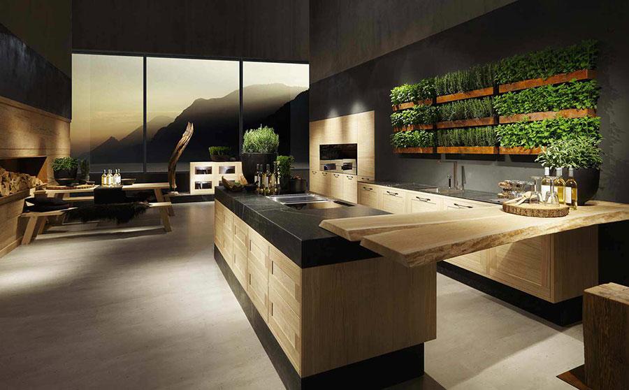 Modello di cucina moderna in legno n.21