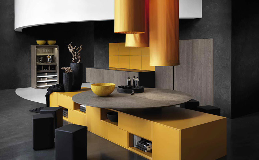 Modello di cucina moderna in legno n.22