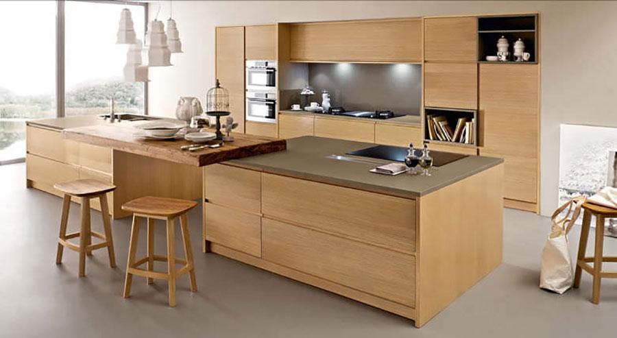 Modello di cucina moderna in legno n.24
