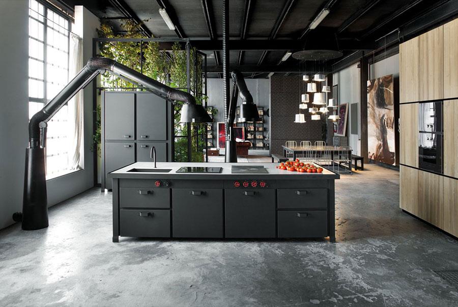 Modello di cucina dal design industriale n.01