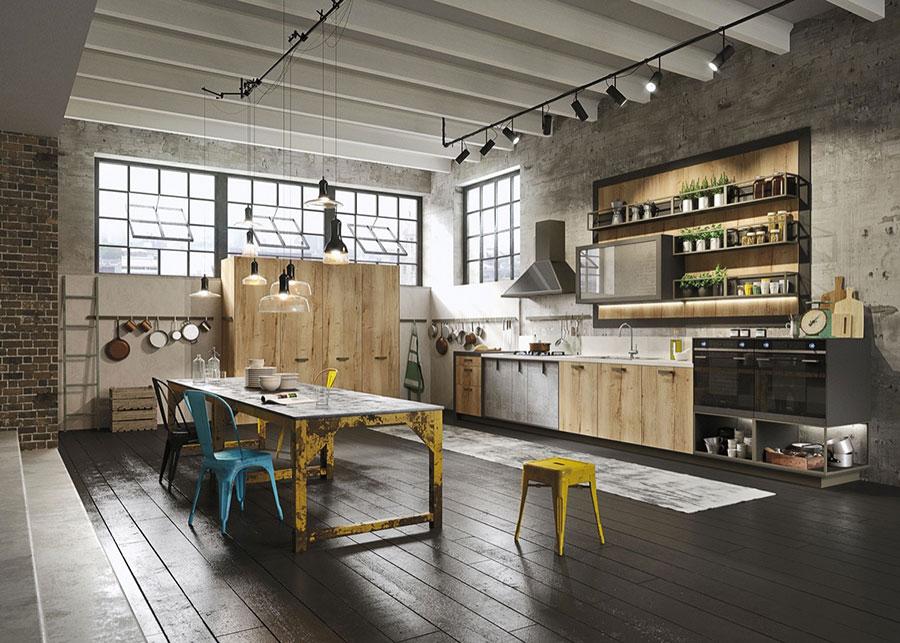 Modello di cucina dal design industriale n.04