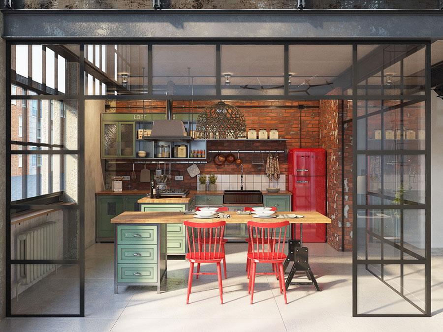 Popolare Cucine in Stile Industriale: 50 Idee di Design a cui Ispirarsi NL86