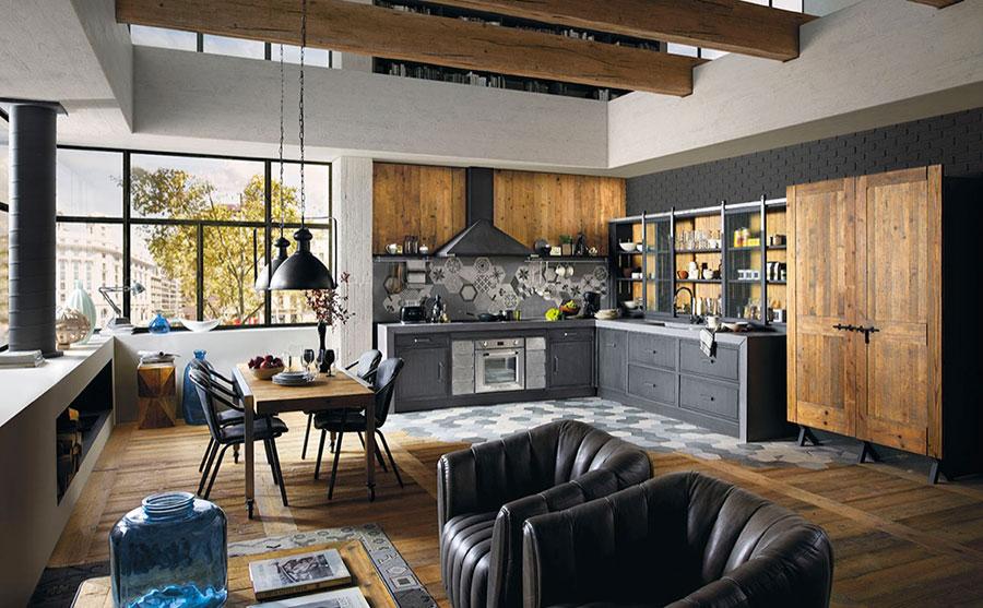 Modello di cucina dal design industriale n.07