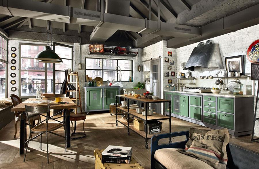 Modello di cucina dal design industriale n.08