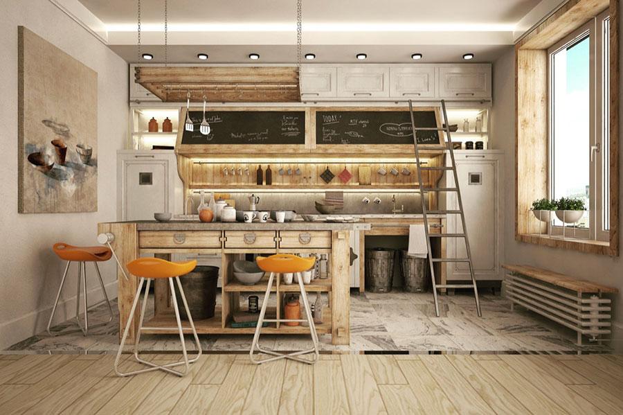 Modello di cucina dal design industriale n.09