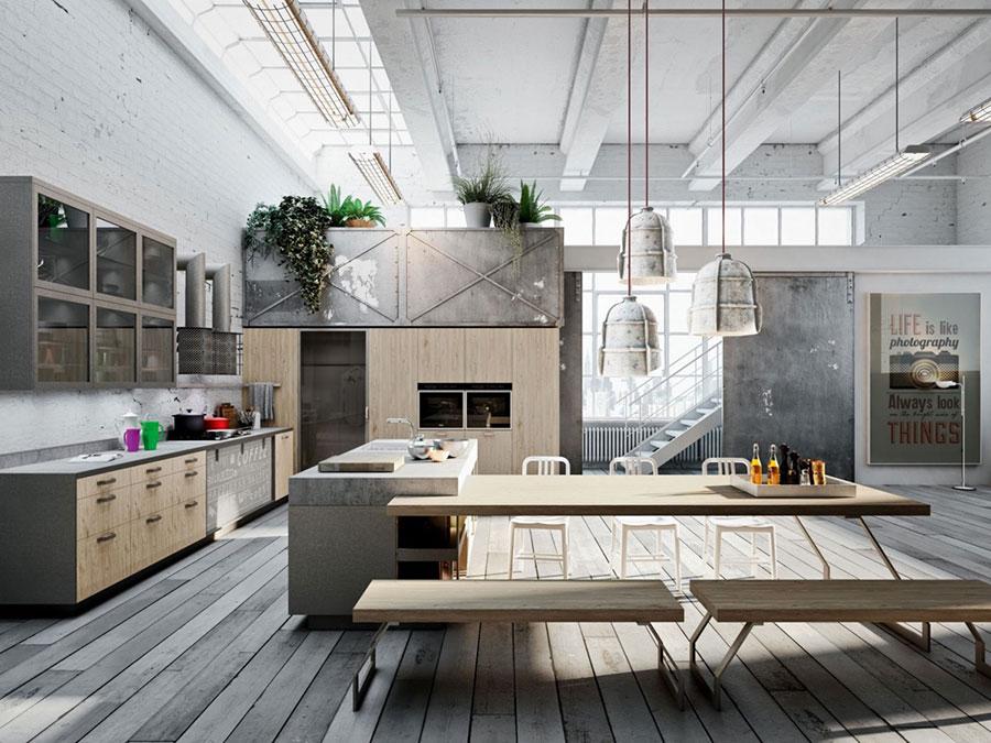 Modello di cucina dal design industriale n.12