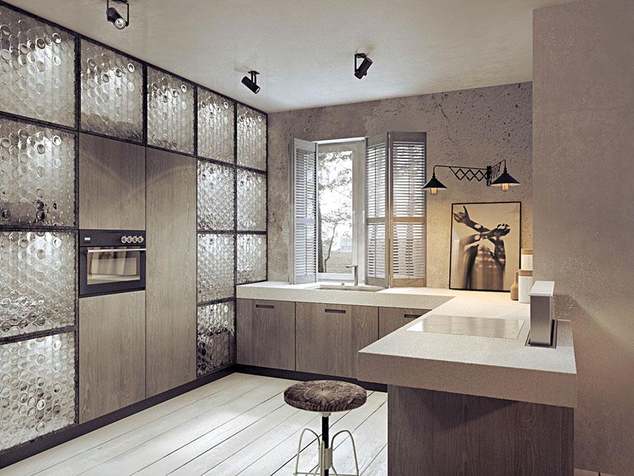 Modello di cucina dal design industriale n.18