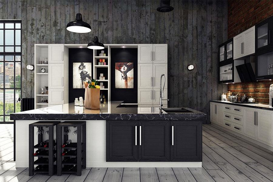 Modello di cucina dal design industriale n.19