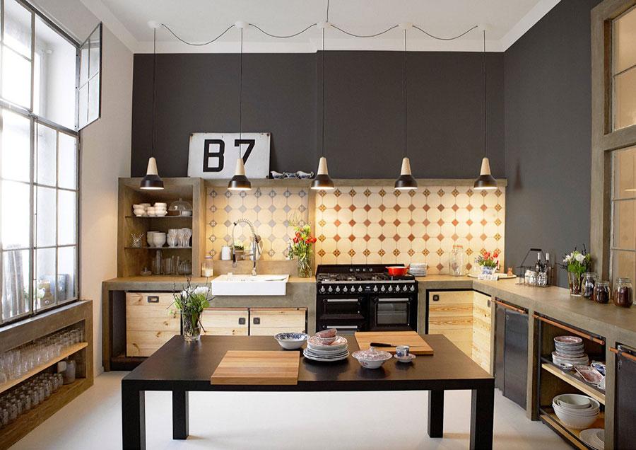 Modello di cucina dal design industriale n.20