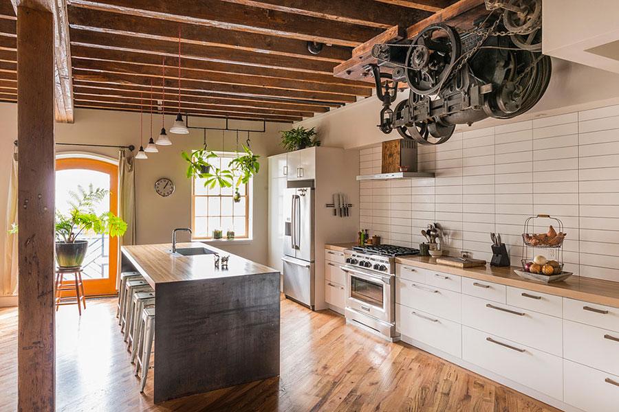 Modello di cucina dal design industriale n.21