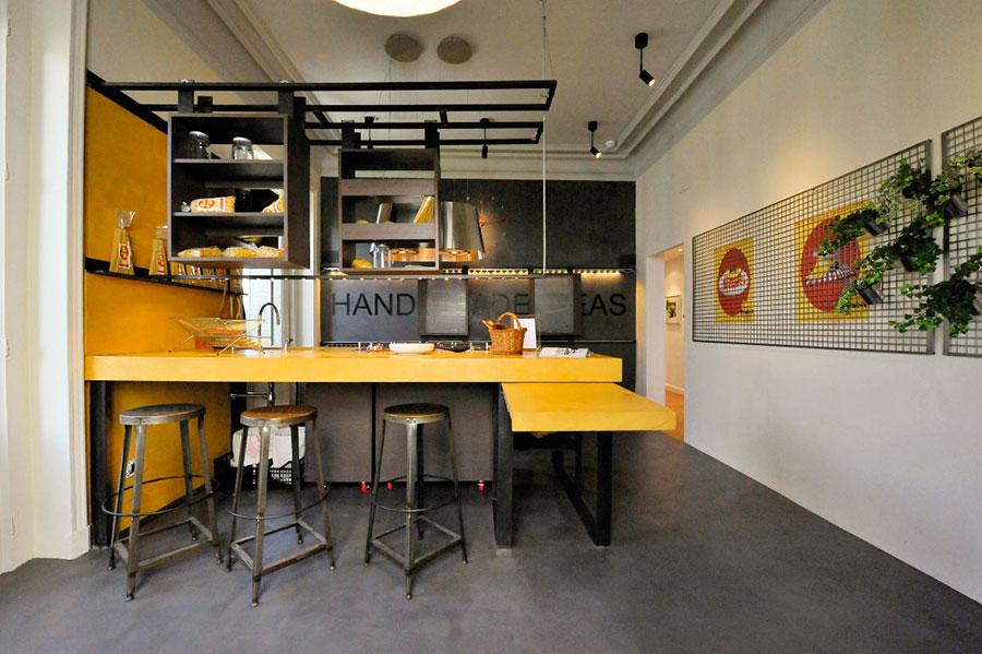 Modello di cucina dal design industriale n.22