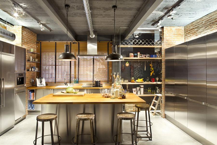 Modello di cucina dal design industriale n.23